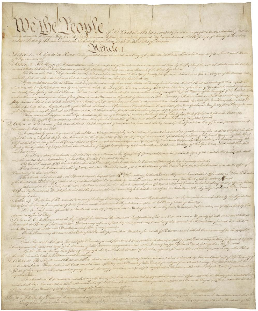Original Text of the US Constitution